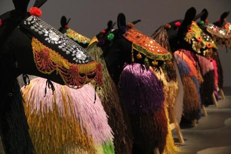 Rafia horses